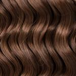 "100% Human Hair. New deep wave colour 6, medum ash brown,  22"", (55cm long) 135gr."