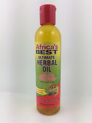 African Best Herbal oil 237ml. for body & hair