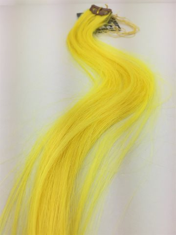 Synthitic Fantasy Hair in clips one pcs Colour Yellow Green