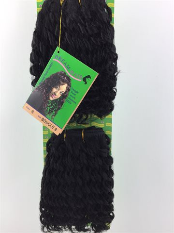 100% Human Hair, Boucle 8 Colour 1B og 2 Pcs. in one Pack.