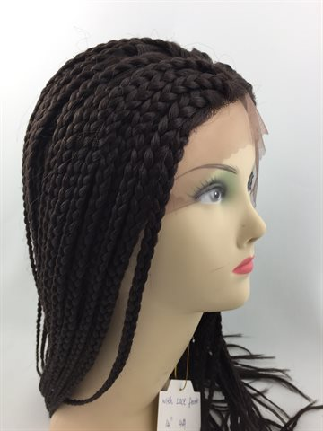 Wig in Braid Front Lace Wig 14# colour 4