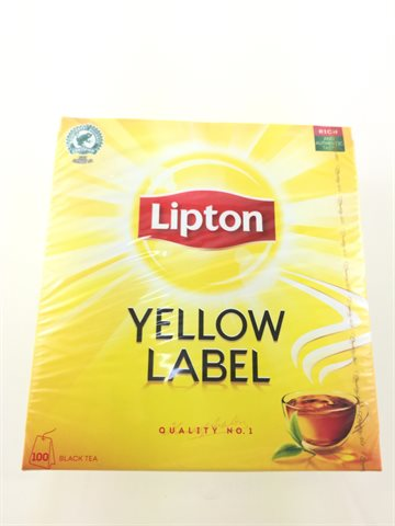 Black Ceylon Tea Lipton In bag 100 Bags.