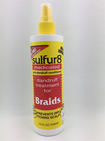 Sulfur 8 dandruff treatment for braids 356 Ml