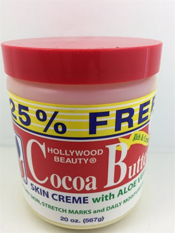 Hollywood Beauty Cocoa Butter skin Creme with Aloe vera 567gr. for dry skin.