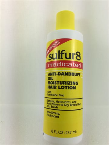 Sulfur 8 Moisturizing Hair Lotion 237 gr Anti - Dandruff Oil