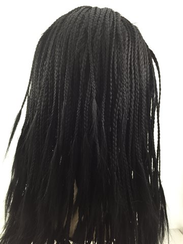 "Wig in Braid, 14"" inches (32 cm) colour 1B Black"